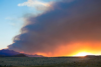Wildfire on Carter Mountain in Northwest Wyoming