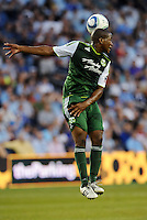 Darlington Nagbe (6) midfielder Portland Timbers in actiom,.. Sporting Kansas City defeated Portland Timbers 3-1 at LIVESTRONG Sporting Park, Kansas City, Kansas.