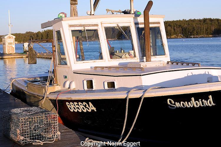 Lobster boat docked in freeport maine norm eggert for Freeport fishing boats