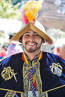 Anastasio Fabian Benito Trujillo portrays conquistador Don Diego De Vargas during the 2008 Santa Fe Fiesta celebration in September