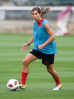 Tobin Heath. The USWNT practice at WakeMed Soccer Park in preparation for their game with Japan.