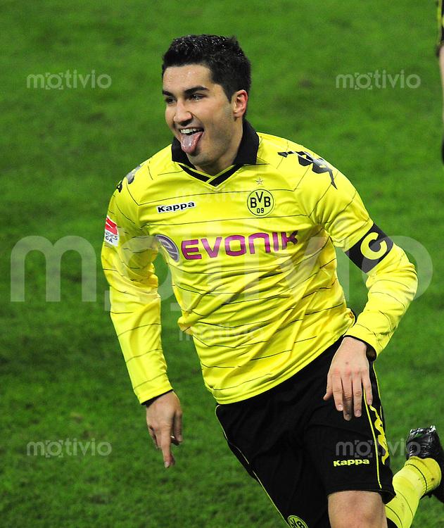Fussball 1. Bundesliga :  Saison   2010/2011   24. Spieltag  26.02.2011 FC Bayern Muenchen - Borussia Dortmund JUBEL Nuri Sahin (Borussia Dortmund)