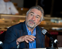 Acting great Robert De Niro at a media conference at the Nobu restaurant, Crown Casino, Melbourne