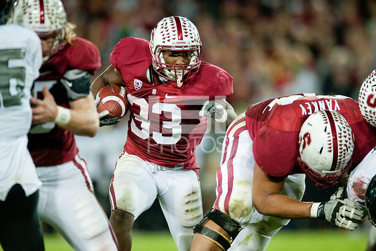 STANFORD, CA - NOVEMBER 12: Stanford suffers a defeat against the University of Oregon at Stanford Stadium.