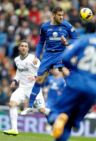 Getafe's Alberto Lopo during La Liga match. January 27, 2013. (ALTERPHOTOS/Alvaro Hernandez) NortePhoto /MediaPunch Inc. ***FOR USA ONLY***