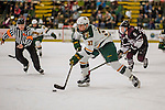 18 December 2016: University of Vermont Catamount Forward Ross Colton, a Freshman from Robbinsville, NJ, in second period action against the Union College Dutchmen at Gutterson Fieldhouse in Burlington, Vermont. The Catamounts fell to their former ECAC hockey rivals 2-1, as the Dutchmen sweep the two-game weekend series. Mandatory Credit: Ed Wolfstein Photo *** RAW (NEF) Image File Available ***