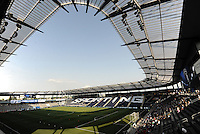 LIVESTRONG Sporting Park... Sporting KC defeated San Jose Earthquakes 1-0 at LIVESTRONG Sporting Park, Kansas City, Kansas.