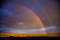 Double rainbow over the Bighorn Basin of Wyoming