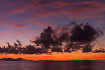 Kondeymathilabadhoo Island, Huvadhoo Atoll, Maldives; colorful skies at sunrise over the Indian ocean
