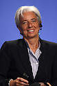 July 16, 2010 - Tokyo, Japan - French Economy Minister Christine Lagarde attends the conference 'What Future for Europe and the Euro' in Tokyo, on July 16, 2010, during the two-day visit in Japan of French Prime Minister Francois Fillon. Fillon will meet Japan Prime Minister Naoto Kan and members of the business community during his visit.