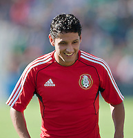 PASADENA, CA – June 25, 2011: Mexico player Angel Reyna (11) before the Gold Cup Final match between USA and Mexico at the Rose Bowl in Pasadena, California. Final score USA 2 and Mexico 4.