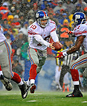 23 December 2007: New York Giants quarterback Eli Manning in action against the Buffalo Bills at Ralph Wilson Stadium in Orchard Park, NY. The Giants defeated the Bills 38-21. ..Mandatory Photo Credit: Ed Wolfstein Photo