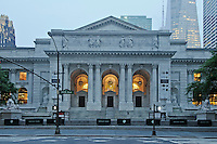 New York Public Library, architect, Carrere &amp; Hastings , 5th Avenue, Manhattan, New York City, New York, USA