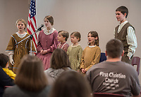 NWA Democrat-Gazette/ANTHONY REYES @NWATONYR<br /> The Shiloh Balladeers perform folk ballads Wednesday, March 15, 2017 at the Shiloh Museum of Ozark History in Springdale. The group performed songs like &quot;Skip to My Lou,&quot; &quot;Bangum and the Boar&quot; and &quot;The Dewy Dens of Yarrow&quot; which all link back to the Ozarks, though they may have long histories.
