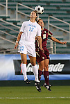 07 November 2008: North Carolina's Yael Averbuch (17) and Boston College's Kelly Henderson (10). The University of North Carolina Tarheels defeated Boston College Eagles 2-0  at WakeMed Stadium at WakeMed Soccer Park in Cary, NC in a women's ACC tournament semifinal game.