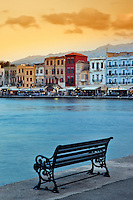 Chania at dusk, Crete, Greece