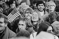 15 Nov 1969, Washington, DC, USA --- Protestors of the Vietnam War marching in the Peace Moratorium on Constitution Avenue in Washington, DC on November 15, 1969. The Peace Moratorium 2nd is believed to have been the largest demonstration in US history with an estimated 20 to 30 million people involved. --- Image by © JP Laffont/Sygma/CORBIS
