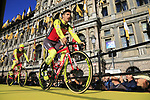 Wilier Triestina-Sella Italia team on stage at sign on before the 101st edition of the Tour of Flanders 2017 running 261km from Antwerp to Oudenaarde, Flanders, Belgium. 26th March 2017.<br /> Picture: Eoin Clarke | Cyclefile<br /> <br /> <br /> All photos usage must carry mandatory copyright credit (&copy; Cyclefile | Eoin Clarke)
