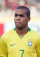 Brazil's Alex Teixeira (7) stands on the field before the match against Germany during the FIFA Under 20 World Cup Quarter-final match at the Cairo International Stadium in Cairo, Egypt, on October 10, 2009. Germany lost 2-1 in overtime play.