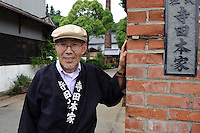 Keisuke Terada, CEO of Terada Honke sake brewery, Kozaki, Chiba Prefecture, Japan, June 15, 2009. Terada Honke sake brewery has been brewing sake in the town of Ozaki since 1673. They make sake using organic rice, natural sake yeast, and traditional sake brewing methods.