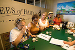 Hawaii: Molokai, coffee tasting experienced during Coffees of Hawaii tour..Photo himolo247-72483..Photo copyright Lee Foster, www.fostertravel.com, lee@fostertravel.com, 510-549-2202