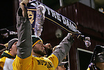 04 December 2009: Notre Dame fan. The University of North Carolina Tar Heels defeated the Notre Dame University Fighting Irish 1-0 at the Aggie Soccer Complex in College Station, Texas in an NCAA Division I Women's College Cup Semifinal game.