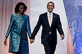 United States President Barack Obama and First Lady Michelle Obama arrive at the groundbreaking ceremony of the Smithsonian National Museum of African American History and Culture in Washington, D.C. on Wednesday, February 22, 2012. The museum is scheduled to open in 2015 and will be the only national museum devoted exclusively to the documentation of African American life, art, history and culture. .Credit: Andrew Harrer / Pool via CNP