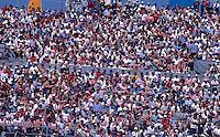 Crowd, fans, Daytona 500, Daytona International Speedway, Daytona Beach, Florida, February 15, 1987. (Photo by Brian Cleary/www.bcpix.com)