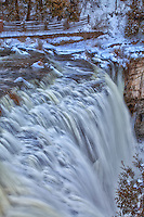 A wintery view at Webster's Falls in Hamilton.