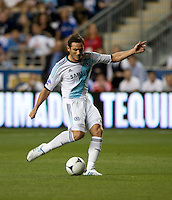Frank Lampard (8) of Chelsea takes a shot during the game at PPL Park in Chester, PA.  The MLS All-Stars defeated Chelsea, 3-2.