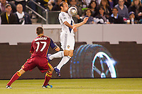 Carson, California - Saturday March 10, 2012: Real Salt Lake defeated the LA Galaxy 3-1at Home Depot Center stadium during a Major League Soccer match.