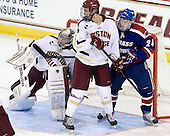 Brad Barone (BC - 29), Isaac MacLeod (BC - 7), Michael Colantone (UML - 24) - The Boston College Eagles defeated the visiting University of Massachusetts Lowell River Hawks 6-3 on Sunday, October 28, 2012, at Kelley Rink in Conte Forum in Chestnut Hill, Massachusetts.
