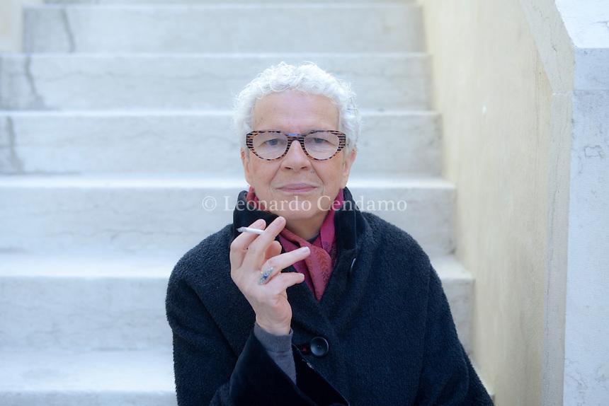 """Renata Colorni,  italian translator and directress editorial """" i Meridiani """" Mondadori. E\' tra le pi apprezzate traduttrici italiane. 2011, Venezia.  © Leonardo Cendamo"""