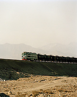 Freight Train, Silk Route; Dunhuang, Jiuquan, Gansu Province, China.
