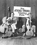 Chet Atkins & Merle Travis. The Alkins Travis Traveling show in 1974..photo from promoarchive.com/ Photofeatures....
