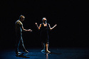 "London, UK. 15.04.2014. HeadSpaceDance present IF PLAY IS PLAY..., a triple bill of new work, in the Linbury Studio, Royal Opera House, London. Picture shows:  Christopher Akrill and Gemma Nixon, in ""Two"". Photograph © Jane Hobson."