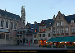 Burg Square at Dawn, Basilica of the Holy Blood, Bruges, Brugge, Belgium