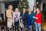 Noreen Teahan, Moira Horgan, Maureen Williams, Helen O'Connor, Patricia Glenn, Sheila Driscoll enjoying the Ashe Hotel Christmas party night on Saturday