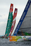 Sanya follows Groupama,CAMPER with Emirates Team New Zealand and Puma. In Port Race Galway Ireland. Volvo Ocean Race 2011-2012. 7/7/2012