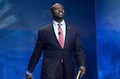 March 14, 2013  (National Harbor, MD)  U.S. Senator Tim Scott (R-SC) walks on stage at the 2013 Conservative Political Action Committee (CPAC) Conference at the Gaylord Hotel in National Harbor, MD.  (Photo by Don Baxter/Media Images International)