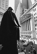 1883 --- Exterior of the New York Stock Exchange on Wall Street during the 1971 Dollar crisis when President Nixon stopped gold convertibility to stabilize the dollar. | Located in: Federal Hall National Memorial. --- Image by © JP Laffont