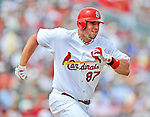 8 March 2012: St. Louis Cardinals' infielder Matt Adams in action during a Spring Training game against the Boston Red Sox at Roger Dean Stadium in Jupiter, Florida. The Cardinals defeated the Red Sox 9-3 in Grapefruit League action. Mandatory Credit: Ed Wolfstein Photo