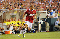 Gabriel Obertan (26) of Manchester United. Manchester United (EPL) defeated the Philadelphia Union (MLS) 1-0 during an international friendly at Lincoln Financial Field in Philadelphia, PA, on July 21, 2010.
