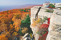New Paltz, New York, Shawangunk Mountains, Minnewaska State Park, Gertrude's Nose, Fall, Hudson River