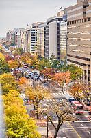 Downtown K and L streets Washington DC