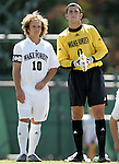 11 September 2005: Justin Moose (10) and Brian Edwards (0). The Wake Forest Demon Deacons defeated the Rutgers Scarlet Knights 5-1 in an NCAA Divison I men's soccer game at Fetzer Field in Chapel Hill, NC.