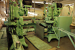 USA, California, Ontario. Olive canning machinery at Graber Olive House.