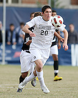 Andy Riemer #20 of Georgetown University during a Big East quarter-final  match against Providence University at North Kehoe Field, Georgetown University on November 6 2010 in Washington D.C.Providence won 2-1.