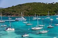 St. John ferry approaching Cruz Bay<br /> St. John<br /> U.S. Virgin Islands