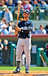 2 March 2009: New York Yankees' catcher Jorge Posada steps up to the plate during a Spring Training game against the Houston Astros at Osceola County Stadium in Kissimmee, Florida. The teams played to a 5-5, 9-inning tie. Mandatory Photo Credit: Ed Wolfstein Photo